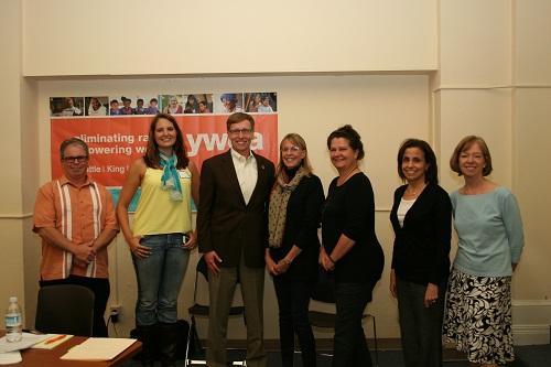 YWCA staff with governor candidate Rob McKenna