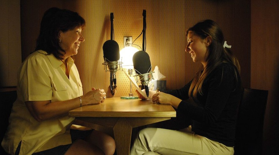 StoryCorps offers people the opportunity to record, share, and preserve their stories. Photo credit: Tony Rinaldo via StoryCorps.