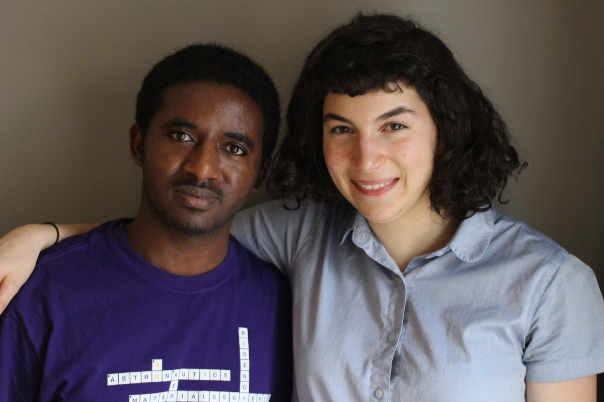"In the newest StoryCorps ""Finding Our Way"" interview, Solomon Muche tells his mentor Elizabeth Stein about his family's experience with homelessness. Image credit: StoryCorps."